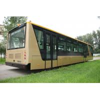 Quality Low Carbon Alloy Steel 51 Passenger Airport Apron Bus , 4 Strok Diesel Engine for sale