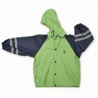China Children's Raincoat, Made of PU Material, with Welded Seams wholesale