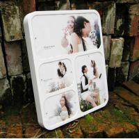 China wall-mounted white acrylic photo frame wholesale