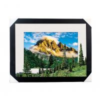 China Eco-friendly 30x40CM 5D Lenticular Printing Services With PS Black Frame For Home / Hotel wholesale