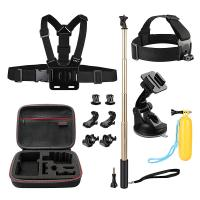 China Action Camera Kit 12-in-1 Gopro Carrying case + Head Chest Belt Strap Mount HGP5704 wholesale