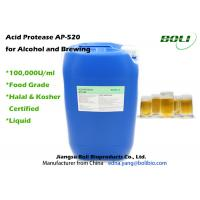Buy cheap High Activity Enzymes In Brewing Industry , 100000 U / ml Acid Protease Enzymes from wholesalers