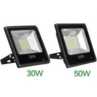 China led flood light IC linear constant project without driver SMD5630 black aluminum fixture wholesale