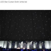 Led star curtain led star cloth wedding backdrop for stage backdrop