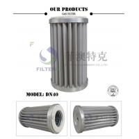 China Stainless Steel Mesh Gas In Air Filter , Pleated DN40 Natural Gas Line Filter  wholesale