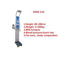 China Medical BMI Coin operated body fat Composition height weight measuring machine with printing and blood pressure wholesale