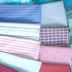 China Woven dyed jacquard stripe poplin plain white cotton fabric wholesale