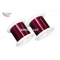 China Red Color 0.1mm Enameled Winding Wire Polyester Insulation wholesale