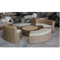 China 5-piece Outdoor rattan furniture sectional round moon shape sofa set commerical funiture-YS5738 wholesale