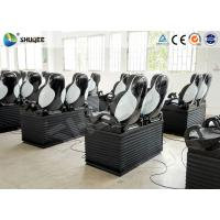 China Black Luxury Seats 7D Movie Theater Genuine Leather Fiberglass Interactive Games wholesale