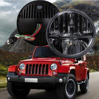 "China 60W 7"" Fog Jeep LED Headlights With Hi / Lo H4 Or H13 For Wrangler JK wholesale"