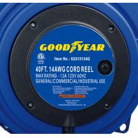 China 40ft Triple Tap Heavy Duty Extension Cord Reel Goodyear Hose Reel With LED Lighted Connector wholesale