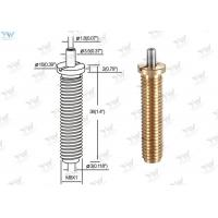 China Precision M 8 Fully Threaded Brass Cable Gripper / Aircraft Cable Adjustable Fittings wholesale