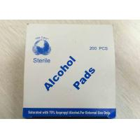 China Medical Use Sterile Alcohol Pads Saturated With 70% Lsopropyl Alcohol wholesale