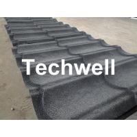 China Sand Metal Stone Coated Roof Tile Machine , Steel Roof Tile Production Line wholesale