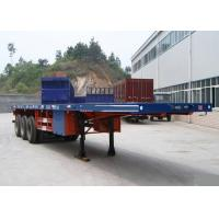 China Container Carrying Flatbed Semi Trailer Truck 3 Axles 30-60 Tons 13m wholesale