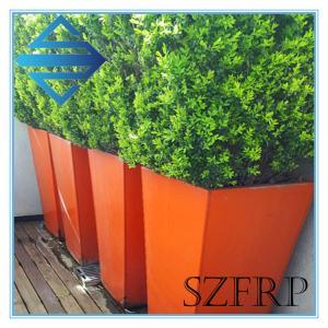 tall fiberglass planters