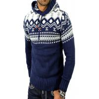 China Elegant Jacquard Funny Xmas Sweaters , Tacky Christmas Clothes Hoodie For Men wholesale
