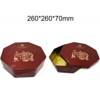 China Metal Octagonal Shape Empty Custom Packaging Boxes Hinged Tins Containers Durable wholesale