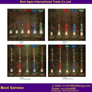 China Colorful Tube 110-240v E27 Lamp Holder Pendant Lighting decorative indoor linear light on sale