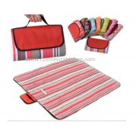China Red Stripes Outside Foldable waterproof Picnic mat Blanket for Camping / Travel / Promotional wholesale