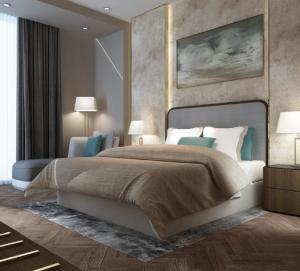 China Dubai Luxury Hotel Style Bedroom Furniture Modern Design Metal Frame wholesale