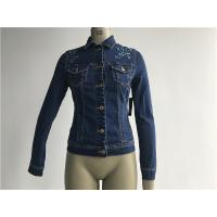 Buy cheap Customized Embroidered Jean Jacket , Ladies Stretch Denim Jacket TW78599 from wholesalers