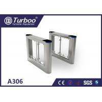 China High Speed Flap Barrier Gate / Controlled Access Gates With Infrared Sensors wholesale