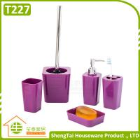 China Bathroom Set Supplier Modern Fashion Colorful 5 Pcs Bathroom Product For Decor wholesale