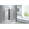 China Popular White ABS Tray Corner Shower Stalls , Circle Quadrant Shower Cabin wholesale