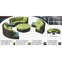China 9pcs synthetic outdoor furniture wicker round sofa set -9229 wholesale