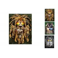 China Hotel Decoration Lenticular Flip Picture / 0.6mm PET 3 In 1 3D Animals Photos wholesale