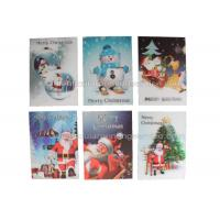 Quality CMYK Merry Christmas Lenticular Printing Services Greeting Card Heat Resistant for sale