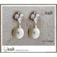 Quality Fashion Jewelry 925 Sterling Silver Gemstone Earrings with Imitated Pearl W for sale