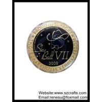 Buy cheap Lowest price of embossed commemorative coins, souvenir coin--shenzhen factory from wholesalers