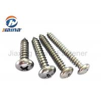 Quality AISI 304 Stainless Steel Self Tapping Screws , Sharp Point Pan Head Framing for sale