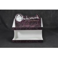 China White Acrylic Chocolate Display Stand , Food Service Trays Stickers Available wholesale