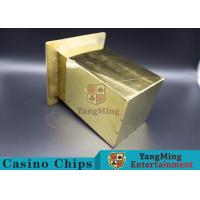 China Stainless Steel Poker Discard Holder Easy Loading Be Set In Poker Table wholesale