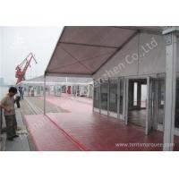 China 15M Clear Span Aluminum Outdoor Event Tent Designed With Transprent Glass Wall wholesale