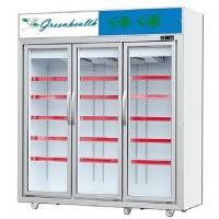 China Black R404a Upright Glass Door Freezer For Ice Cream Refrigeration wholesale