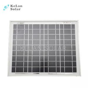 China Small Size Mono Crystal Solar Panel 10 Watt Silver Frames 2% Module Efficiency on sale