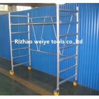 China Mobile aluminum scaffolding h frame with fiberglass plank , PVC wheels 34.7kg wholesale