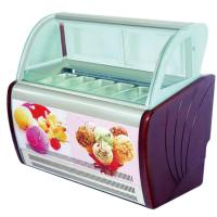 China Curved Glass 6 Containers Ice Cream Scoop Display Freezer Cabinet With T5 / LED Light wholesale