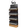 China Freestanding Custom Wooden Wine Display Rack For Liquor Store Advertising wholesale