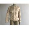 China Ladies' Short Faux Fur Coat Blonde Color Collarless Comfortble Feeling TW68773 wholesale