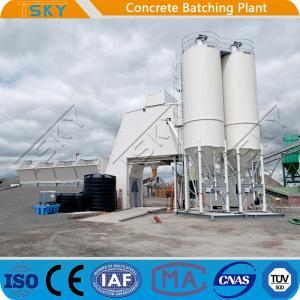 China Flat Belt Conveyor Feeding 180m3 RMC Concrete Batching Plant wholesale