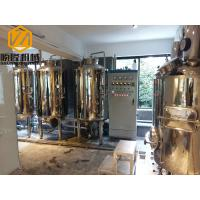 Quality Mirror Polish Brewhouse Equipment Steam Heated For Indoor / Outdoor Use for sale
