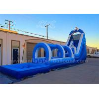 China 20M Long CE Test Inflatable Bouncer Slide With Air Blower 3 Years Warranty wholesale