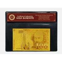 China Engraved France Bills 100 Franc 24K Gold Banknote For Business Gift With COA on sale