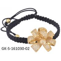 China Charming simple style 925 sterling silver jewellery cz flower bracelet for engagement, gift, party, wedding wholesale